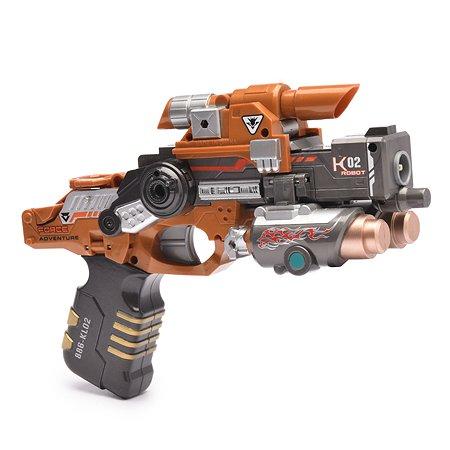Пистолет-робот 2 в 1 Devik Toys Striker с 6  мягкими патронами