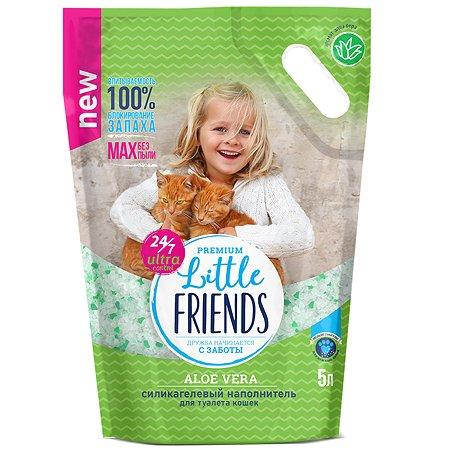 Наполнитель для кошек Little Friends Aloe Vera силикагелевый 5л