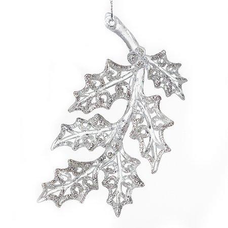 Украшение новогоднее Кристмас лист акриловый в ассортименте