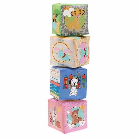 Игрушка Chicco кубики мягкие Disney, с 6 месяцев