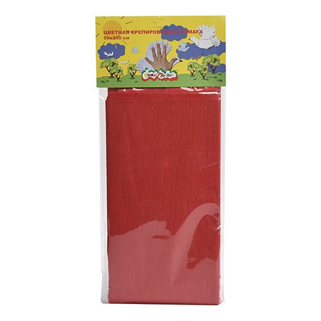 Бумага цветная schoolФОРМАТ крепированная 5цветов БКЦКМ