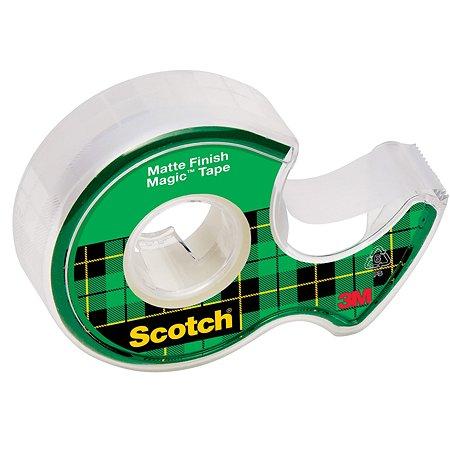 Клейкая лента Scotch матовая на диспенсере 19ммх7,5м