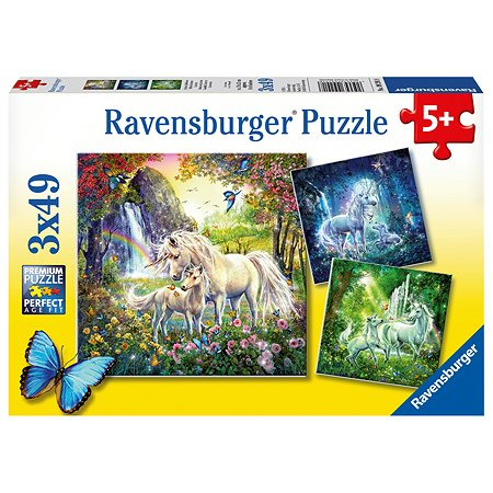 Пазл Ravensburger Единороги 49элементов*3шт 09291