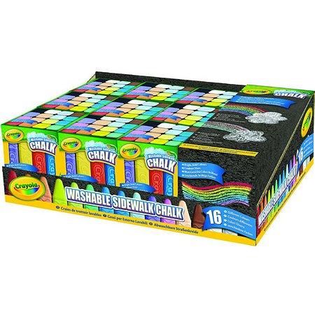 Мел Crayola для асфальта 16 шт.