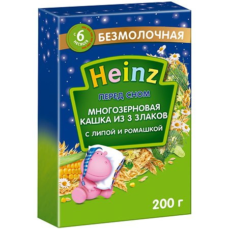 Каша Heinz многозерновая 3 злака с липой 200 г
