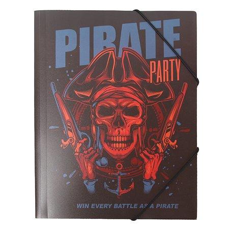 Папка Johnshen Пираты А4 на резинках FS56002-6