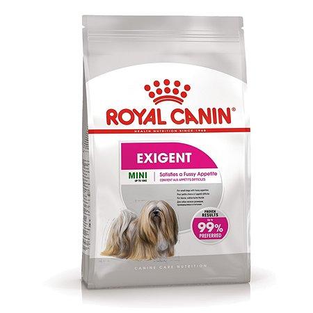 Корм для собак ROYAL CANIN Mini Exigent мелких пород привередливых в питании 3кг