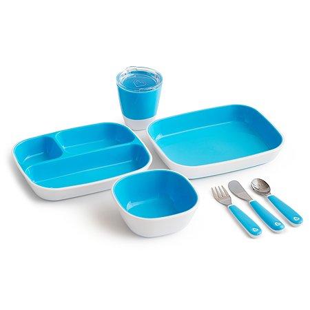 Набор посуды Munchkin 7предметов Голубой
