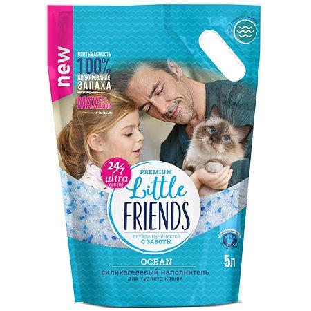 Наполнитель для кошек Little Friends Ocean силикагелевый 5л