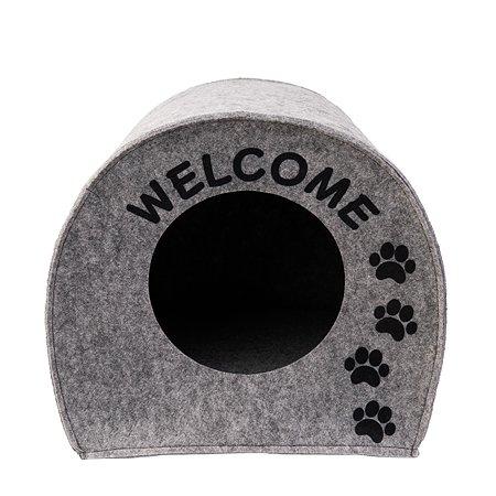 Домик для собак Eva Будка Welcome войлок 33х33х45см Eva