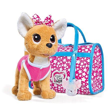 Игрушка мягкая Chi Chi Love Собачка Звездный стиль с сумочкой 5893115