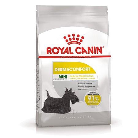 Корм для собак ROYAL CANIN Mini Dermacomfort при раздраженной и зудящей коже 3кг