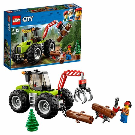 Конструктор LEGO Лесной трактор City Great Vehicles (60181)