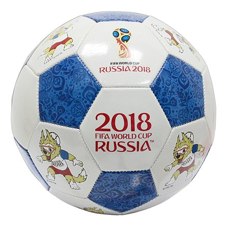 Мяч футбольный 2018 FIFA World Cup Russia TM Goal 1 Сине-белый Т11659