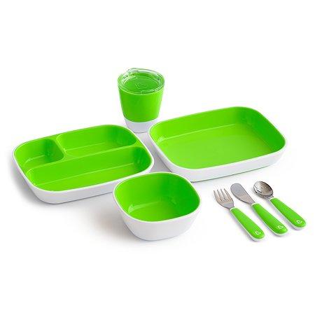 Набор посуды Munchkin 7предметов Зеленый