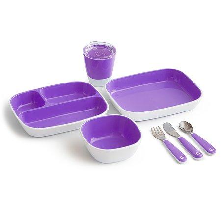 Набор посуды Munchkin 7предметов Фиолетовый