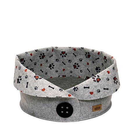 Лежак для собак Eva Пуговка войлок 45х45х33см Eva