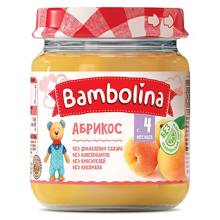 Пюре Bambolina абрикос 100г с 4месяцев
