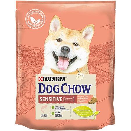 Корм для собак Dog Chow с чувствительным пищеварением с лососем 800г