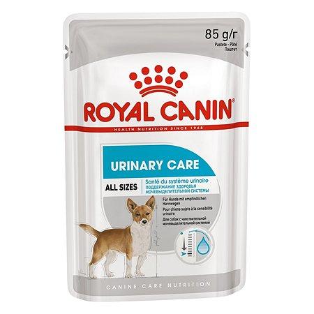 Корм для собак ROYAL CANIN Urinary Care с мочекаменной болезнью паштет пауч 85г