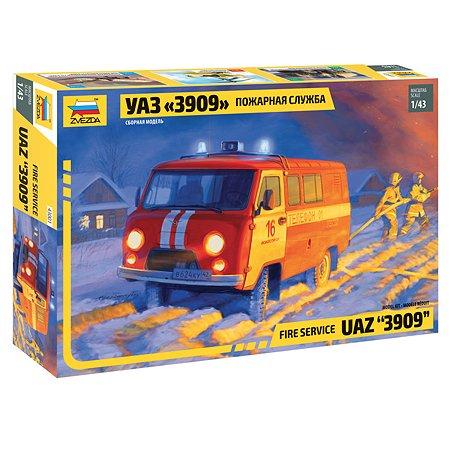 Модель сборная Звезда Машина УАЗ Пожарная служба 43001