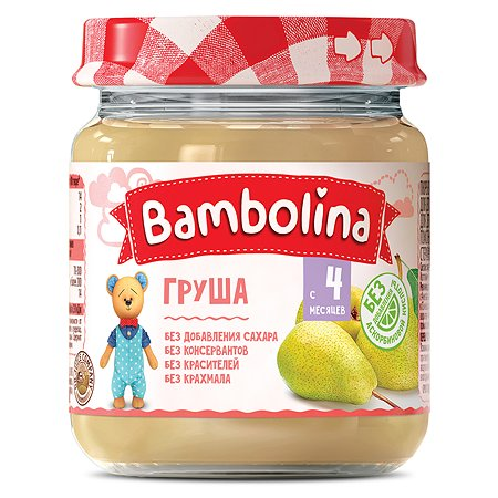 Пюре Bambolina груша 100г с 4месяцев