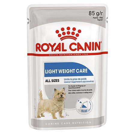 Корм для собак ROYAL CANIN Light Weight Care предрасположенных к набору избыточного веса пауч 85г