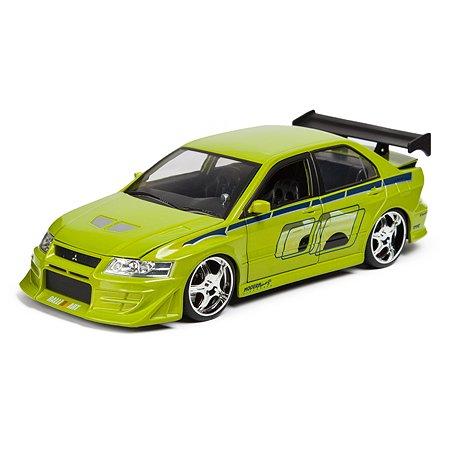 Машинка Fast and Furious Jada1:24 2002 Mitsubishi Lancer Evo VII Зеленая 99788