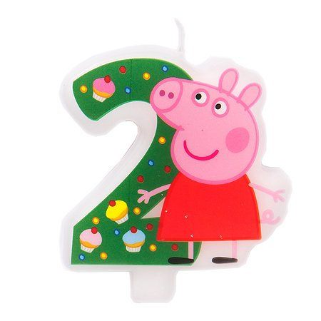 Фигурная свеча Росмэн Цифра 2 Peppa Pig