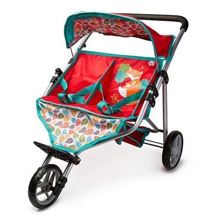 Прогулочная кукольная коляска Demi Star для близнецов