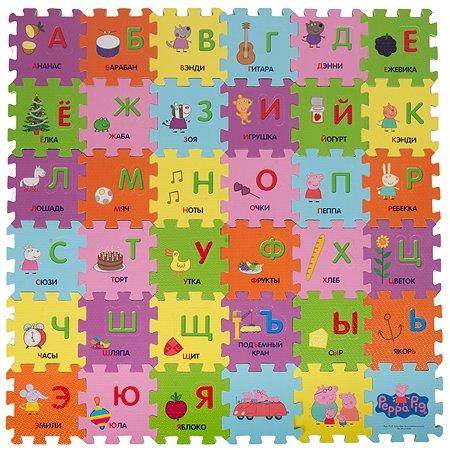 Коврик-пазл Свинка Пеппа Pig Учим азбуку с Пеппой 36 элементов 30128
