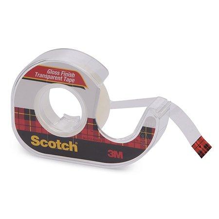 Клейкая лента Scotch прозрачная на мини-диспенсере 12,7ммx7,62м