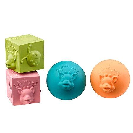 Игрушки в наборе Vulli мячики кубики 220119
