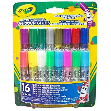 Блестящий клей Crayola 16 мини-тюбиков