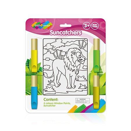 Витражные краски Оранжевый слон с витражом 1шт. миди