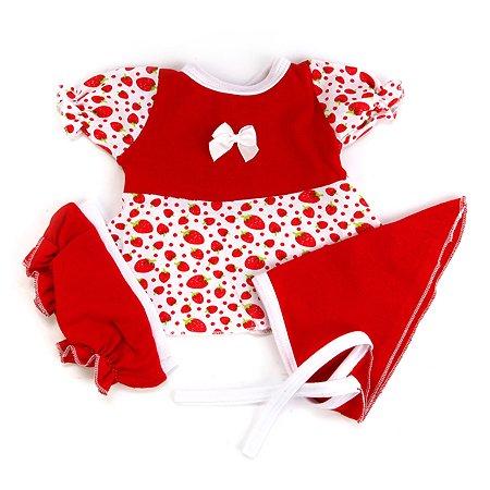 Одежда для куклы Карапуз 40-42 см платье с шортиками цвет красный