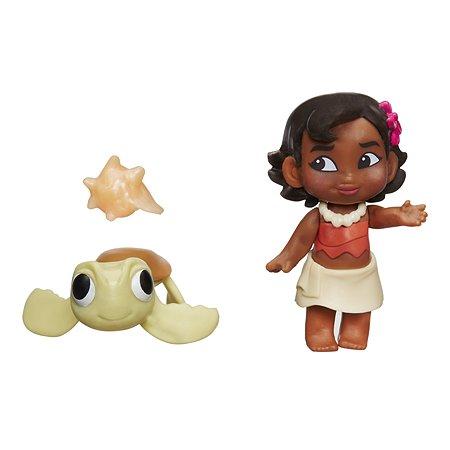 Маленькая кукла Princess Моана малышка и черепашка (C1053EU40)