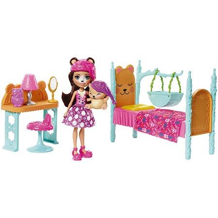 Набор игровой Enchantimals Кукла со зверюшкой Ведмедь Брен FRH46