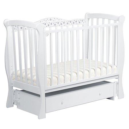 Кровать ЛЕЛЬ Касеапея Звездочки с маятником Белый