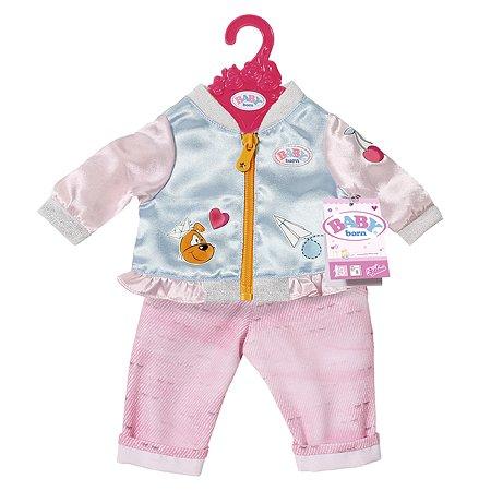 Одежда для кукол Zapf Creation Baby born Штанишки и кофточка для прогулки Розовые 824-542P