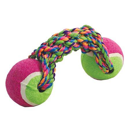 Игрушка для собак Triol Веревка 2мяча 12111010