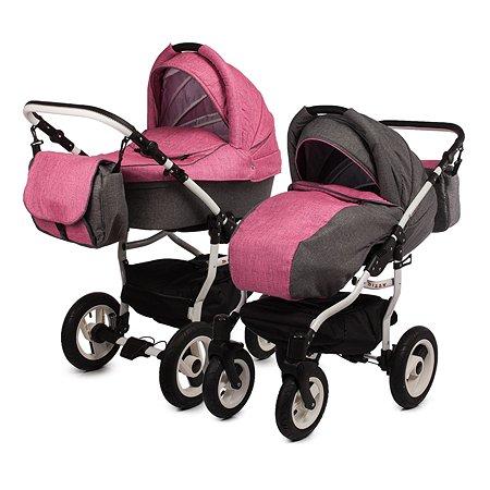 Коляска 2в1 Babyton Dizzy Grey-Pink