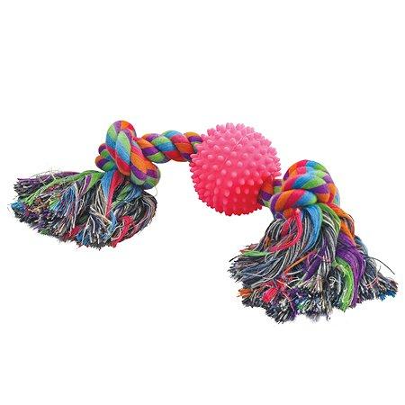 Игрушка для собак Triol Веревка 2узла и мяч 12111011