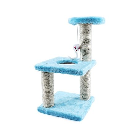 Комплекс-когтеточка для кошек Ripoma с мышкой голубой Ripoma