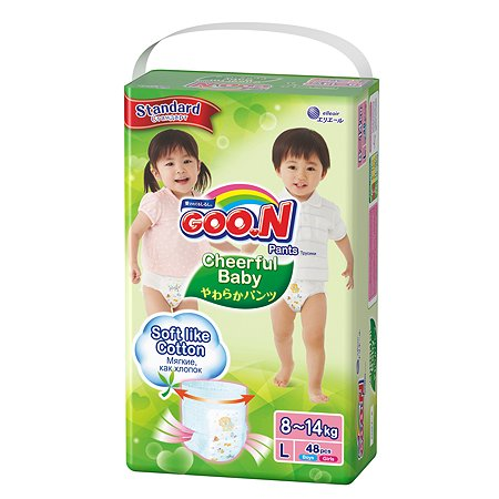 Подгузники-трусики Goon Cheerful Baby L 8-14кг 48шт