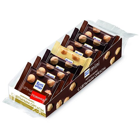 Шоколад Ritter Sport мини-микс с цельным орехом 116г с 3лет
