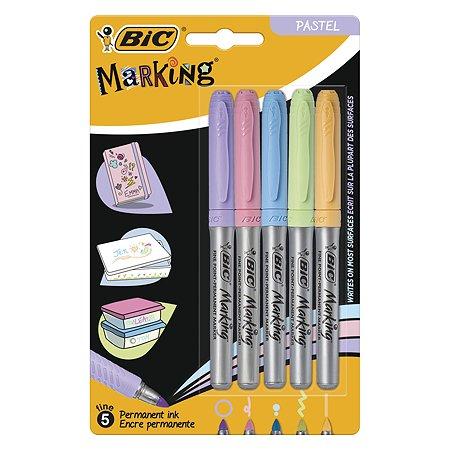 Маркер перманентный BIC Пастель 5цветов 5шт 942865