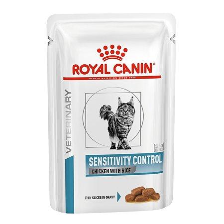 Корм влажный для кошек ROYAL CANIN Sensitivity Control 85г с курицей и рисом при пищевой непереносимости пауч