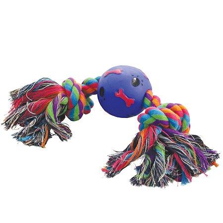 Игрушка для собак Triol Веревка 2узла и мяч 12111012