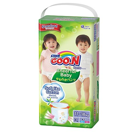 Подгузники-трусики Goon Cheerful Baby XL 11-18кг 42шт